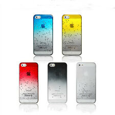 Ultra thin PC 3D Rain Drop Reverse Fade Water effect case for iphone Cell phone