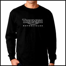 Triumph Motorcycles black long sleeve T-shirt
