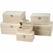Wood treasure chests - 6 sizes to chose from box storage trinket ring display