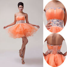 Cheap Price! SHORT Bridesmaid Formal Evening Party Ball Gown Prom Dresses Petite