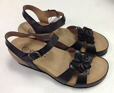 Vionic Orthaheel Gibraltar Leather Wedge Sandals w/ Arch Support FLOOR