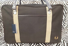 Genuine FRED PERRY L3153 Large Carry CANVAS BOX HOLDALL Weekend Bag BNWT -RP£95