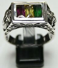 American Eagle Mens Rings Sterling Silver Womens Jewelry Ring Rock Heavy Punk