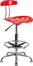 Bar Stool with Swivel Tractor Seat and Adjustable Height / Drafting Stool
