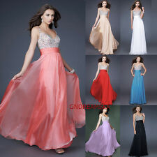 Sexy 7 Color Dress Bridesmaid Prom Pageant Ceremony Gown Evening Dress Size 6-16