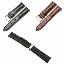 18 - 22mm Leather Strap Steel Buckle Wrist Watch Band