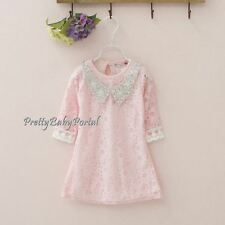 NEW GIRLS Baby Toddler Kid's Clothes Lace Party Pageant One Piece Dress