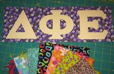 Any Sorority Fraternity A-Z Greek Letters IronOn NoSew Alpha~Omega chi beta psi