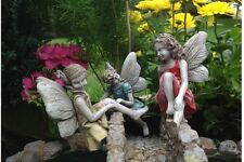 Miniature Dollhouse FAIRY GARDEN ~ Climbing Fairies ~ NEW