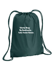 Forest Green Liberty Bags 8882 Boston Duro cord draw string nylon cinch backpack