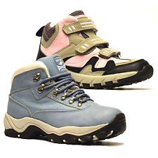 Boys Girls Kids Childrens New Leather Waterproof Ankle Boots Trainers Shoes Size