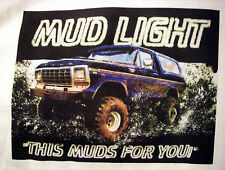 Mud Truck T-shirt 4x4 offroad  lifted FORD BRONCO  bogger white tee monster
