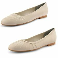 Womens Ladies Flat Pumps Ballet Ballerina Dolly Bridal Slip On Shoes Size UK