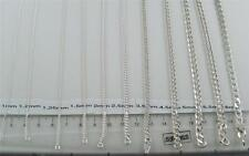 925 STERLING SILVER 14 16 18 20 22 24 26 28 30 32 34 36 INCH CURB CHAIN NECKLACE