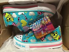 Skechers Twinkle Toes Slide Step Light-Up Girls Toddler Size 5 Sneakers NWT
