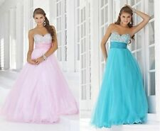 STOCK New Bridesmaid Wedding Gown Prom Ball Evening Dress Size 6-18