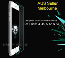Premium Tempered Glass or Plastic Screen Protector For Apple iPhone 4 5 5s c SE