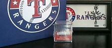 Lot of new Texas Rangers memorabilia License plate clock,picture,case,bball hat!