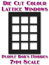 7mm Scale Windows 3x4 Die Cut Panes For O Gauge Railways AVAILABLE IN COLOUR NEW