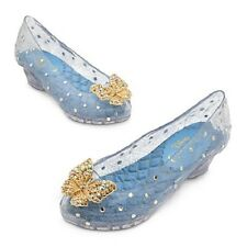 NEW DISNEY STORE CINDERELLA LIVE ACTION FILM DELUXE GLASS SLIPPERS COSTUME SHOES