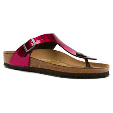 Birkenstock Womens Sandal Thong Gizeh Magenta Steel Regular outlined footprint