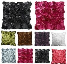 "22"" x 22"" Satin Rose Cushion Covers Stylish and Trendy Cushion Covers"