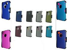 For Iphone 4/4s Case Heavy Duty Hybrid Defender Case w/Belt Clip Cover