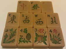 Old French Ivory Tiles-1920s Piroxloid French Ivory/Celluloid -MahJong NWES...