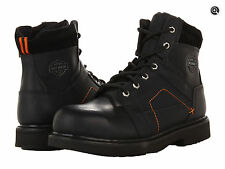 $150 NEW NIB Mens Harley Davidson Pete Black Leather Steel Toe Motorcycle Boots