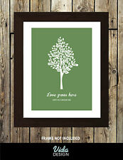 Family Tree Print, gift, birthday gift, Personalised A4 Print