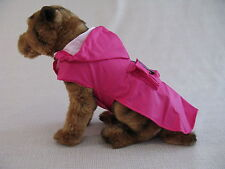 Pink Waterproof Puppy Dog Rain Jacket Coat with Hood - 8 Sizes - Small to 5XL