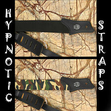 HYPNOTIC STRAPS SALE BLACK CAMOUFLAGE COTTON PRO REGULATION GUITAR STRAP SALE