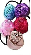 Candy-colored silk satin fabric rose hair band hair accessories cheap best price