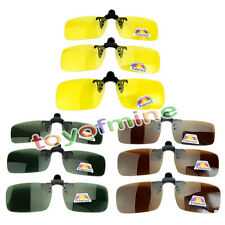 1x Polarized Day Night Vision Clip-on Flip-up Lens Driving Sunglasses Clip
