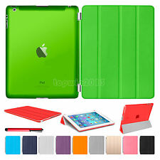 Slim Magnetic Leather Smart Cover Hard Back Case For Apple iPad Air 2 3 4 Mini