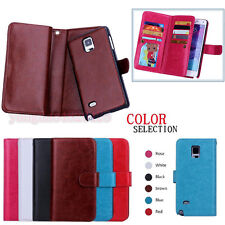 REMOVABLE Magnetic Detachable Leather Wallet Case For Samsung S5/6/Note4/Edge