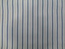 Striped French Ticking Fabric Roll Deckchair Wide Width By Per Metre Blue