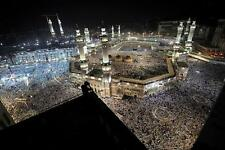 HOLY CITY OF MECCA AT NIGHT GLOSSY POSTER PICTURE PHOTO quran muslim islam 2208