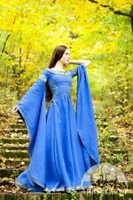 """Medieval Costume , Linen Medieval Dress """"Lady of the Lake"""""""