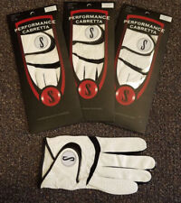 New 3 Pack Genuine Performance Cabretta S Leather Golf Glove - Up to XXX Large