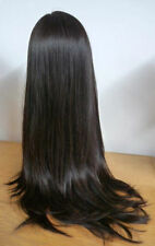 Premium Brazilian Silky Straight 100% Human Hair Front Lace Wigs 5 colors