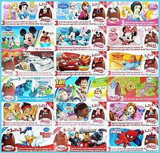 Disney Zaini Chocolate With Suprise 3D Collection Various Flavor One Box(3 Eggs)