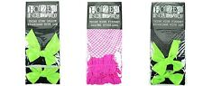 Poizen Industries Thigh High Fishnet Opaque Ladies Stockings With Bows Garters