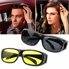 New Unisex HD Night Vision Wrap Around Driving Glasses Sunglasses