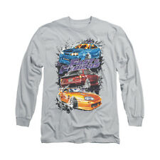 Fast And The Furious Smokin Street Cars Adult Long Sleeve T-Shirt