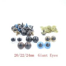 Big Giant 20/22/24mm Plastic Safety Eyes For Teddy Bear Doll Animal Puppet Craft