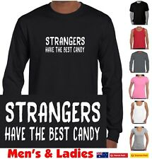 Strangers have best the candy funny t-shirt Singlets Men's Ladies Retro New Top
