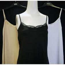 faMouS store lace trim full length slip, black, natural, white in size 8 - 24