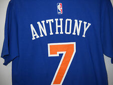 Carmelo Anthony #7 New York Knicks adidas Name and Number T-Shirt - Blue