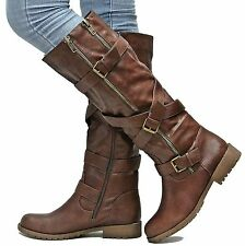New Womens ESo Brown Riding Knee High Boots Sz 6 to 11